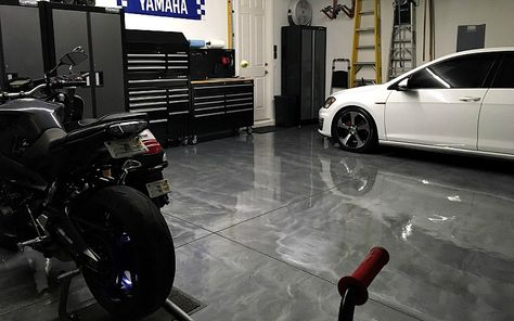 A Rocksolid Metallic Garage Floor Coating Project Floor