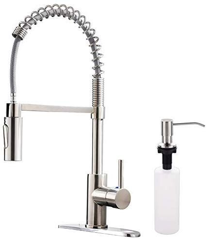 Limited Offer Appaso Commercial Kitchen Faucet Pull Down