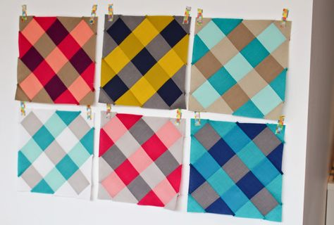 Solids pieced to look like plaid!