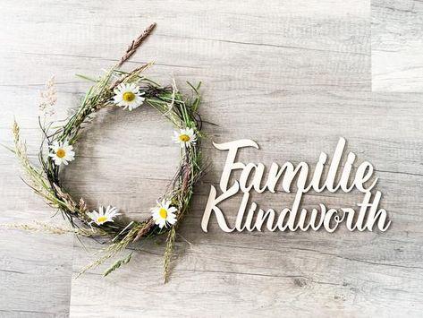Family sign nameplate family last name