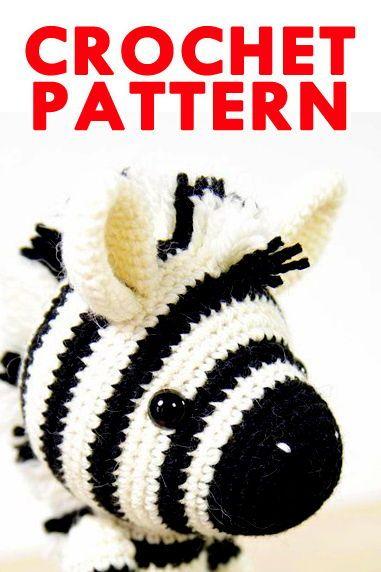 Free Crochet Zebra Pattern - thefriendlyredfox.com | 572x381