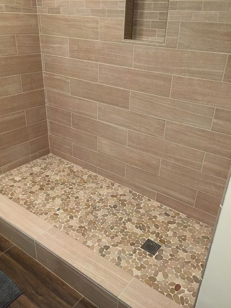 A Glass Bathroom Floor Into The Future Occurring Taking Into Account The Child Support For Bathroom Remodel Shower Pebble Tile Shower Floor Pebble Tile Shower