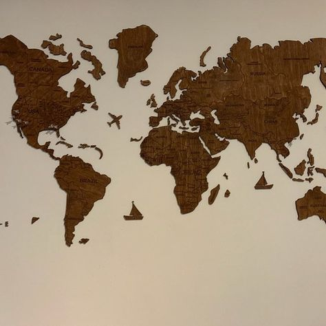 Push Pin Reise Welt Karte Holz Pin Karte Der Welt Wand Haus Kunst