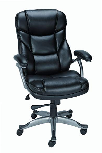 Staples Osgood Bonded Leather Managers High Back Chair Black