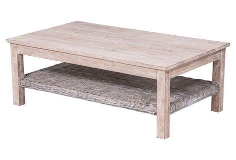 Wunderbare Weiss Gewaschenes Holz Couchtisch Schreibtisch