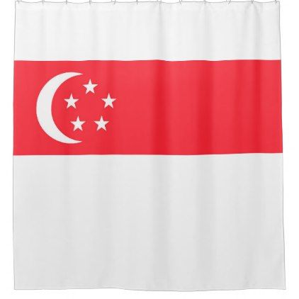 Singapore National Flag Shower Curtain Shower Gifts Diy