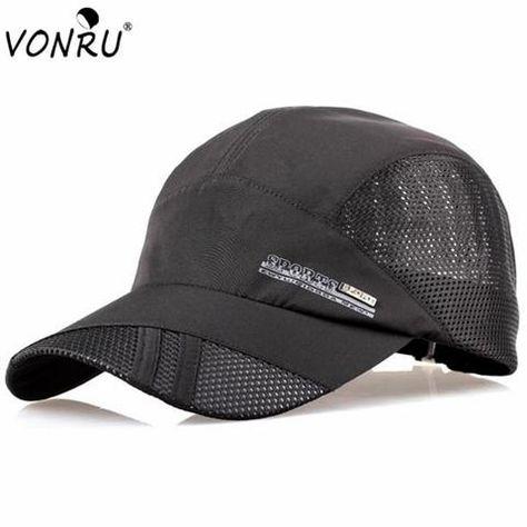 Hot Sale Summer Quick-drying Casual Baseball Cap Male Women Breathable  Snapback Sun Hats Mens Mesh Cap fce023c1fb19