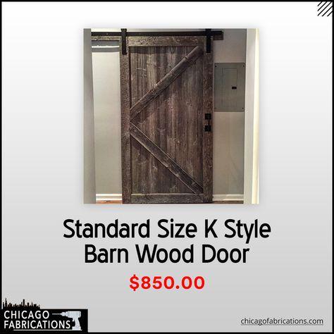 Standard Sized K Style Barn Door