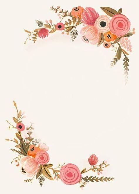 Pin De Estelle Hamman Em 5 Art Floral Note Pads Em 2020 Molduras Para Convites De Casamento Convites De Casamento Coral Fundo Para Convite