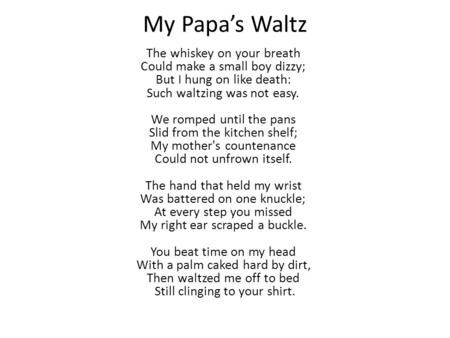 poem for dad who passed away