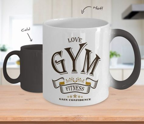 Gift for Her, Gifts for Him | Wife Gift, Husband Gift | Dad Gift, Mom Gift [Love GYM Fitness] 11 oz Color Changing Coffee Mug by ShopieHome on Etsy