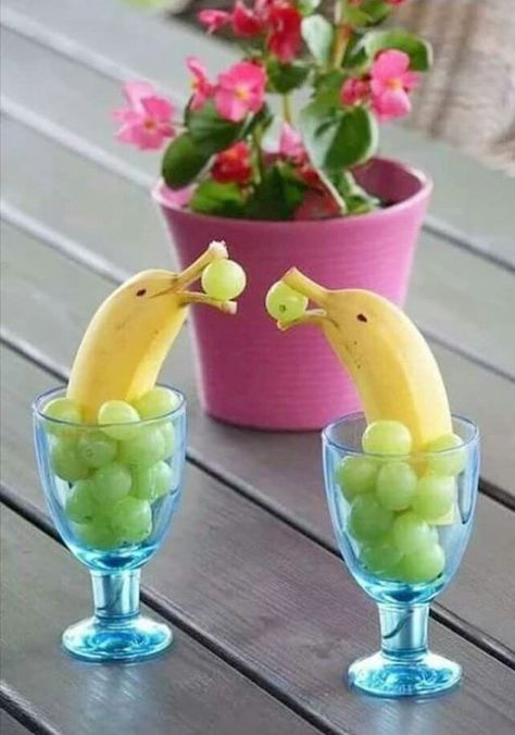Fun foods to serve up to adults and kids alike, like these banana dolphins... and so many more ideas for a garden party, summer party, or any occasion. Beach snacks and food ideas....