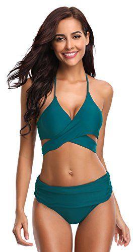 Happy Sailed Damen Badeanzug Farbverlauf Kreuz R/ückseite Einteiler Swimsuit S-XL