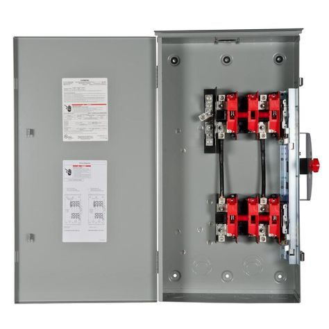 Siemens 200 Amp 1 Pole Non Fusible Safety Switch Disconnect Dtgnf224nr In 2020 Safety Switch Siemens Locker Storage