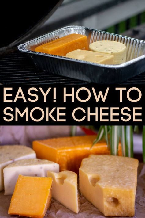 Learn the easy steps to smoke cheese on the grill. After smoking your own cheese, you won't ever want to buy store brands again! Pellet Grill Recipes, Grilling Recipes, Grilling Ideas, Tailgating Recipes, Healthy Grilling, Electric Smoker Recipes, Vegetarian Grilling, Rib Recipes, Barbecue Recipes