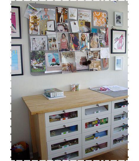 Ikea Varde Standing Height And Wooden Counter Top With Multiple Drawers Via Oh Joy Granitecountertopssolidsurfac Ikea Arbeitstisch Arbeitsflachen Arbeitstisch