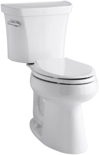 Kohler K 3889 0 Highline Comfort Height 1 28 Gpf Toilet 10 Inch Rough In White With Images Dual Flush Toilet Kohler Toilet