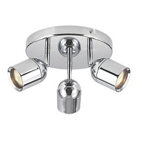 Lens 3 Light Bathroom Spotlight Chrome Gu10 Bathroom Spotlights Bathroom Lighting Bathroom Ceiling Light