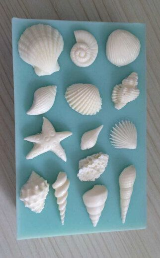 1 silicone flexible push mold for making various seashells soft and easy to use mold measures 5 long and wide The largest shell