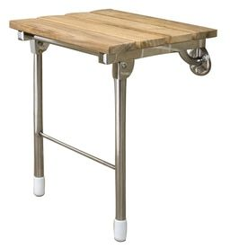 Fold Down Shower Seat At Lowes Com Search Results In 2020 Teak Wall Wall Mounted Folding Table Teak Shower Seat