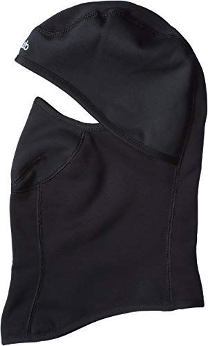 DSG Outerwear Womens Full Face Black Balaclava Vented Mouth Snowflake Mouth Panel