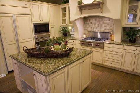 off white kitchen cabinets |  kitchens - traditional - off
