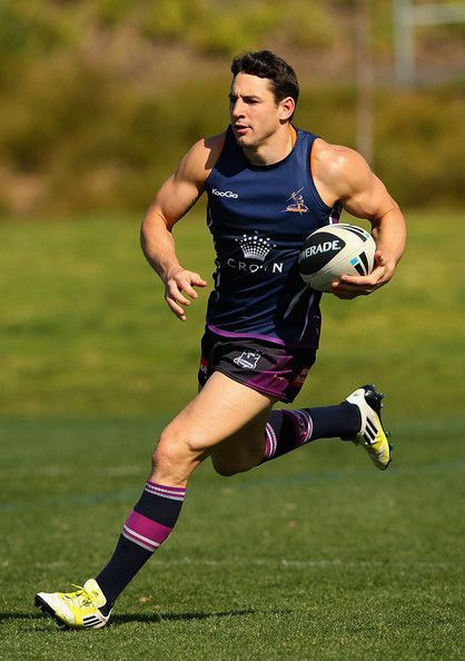 Billy Slater of the Storm runs during a Melbourne Storm NRL training session at Gosch's Paddock on September 2012 in Melbourne, Australia.