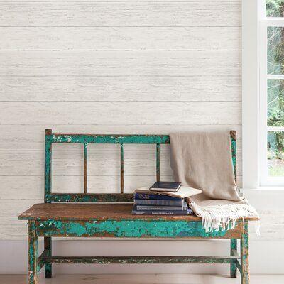 Gracie Oaks Simen Shiplap 18 L X 20 5 W Peel And Stick Wallpaper Roll Wayfair Wood Wallpaper Nuwallpaper Wood Feature Wall