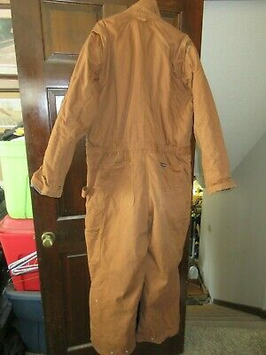Walls Zero Zone Quilt Lined Insulated Duck Winter Coveralls Xl 46