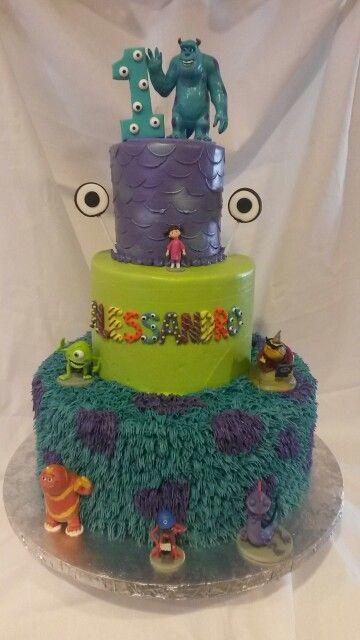 Monsters inc themed birthday cake Something Sweet my cakes