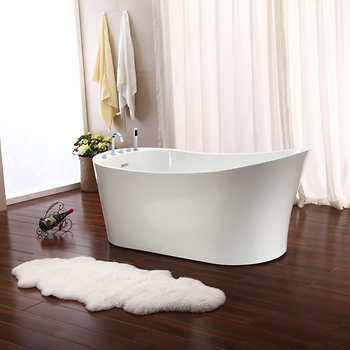 Jade Oahu 67 In Freestanding Bathtub With Deck Mounted Faucet