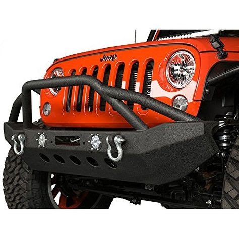 Smittybilt 76856 XRC Black Textured Rear Bumper with Hitch and Tire Carrier for Jeep Wrangler//Wrangler Unlimited
