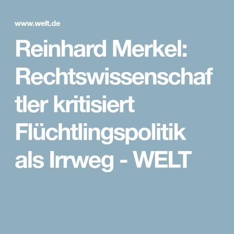 Reinhard Merkel Rechtswissenschaftler Kritisiert