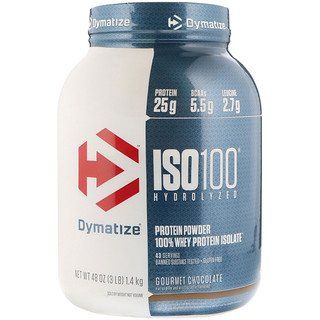 Dymatize Nutrition Iso100 Hydrolyzed 100 Whey Protein Isolate Gourmet Chocolate 3 Lb 1 4 Kg Isolate Protein Whey Protein Isolate Gourmet Chocolate