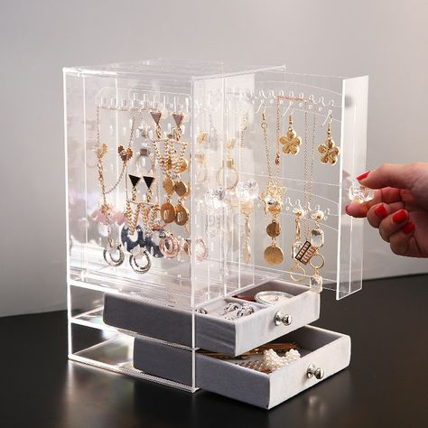 Earring Display Stands, Jewelry Display Box, Small Jewelry Box, Jewellery Boxes, Jewellery Storage, Jewelry Drawer, Jewellery Earrings, Jewelry Organizer Stand, Jewelry Organization