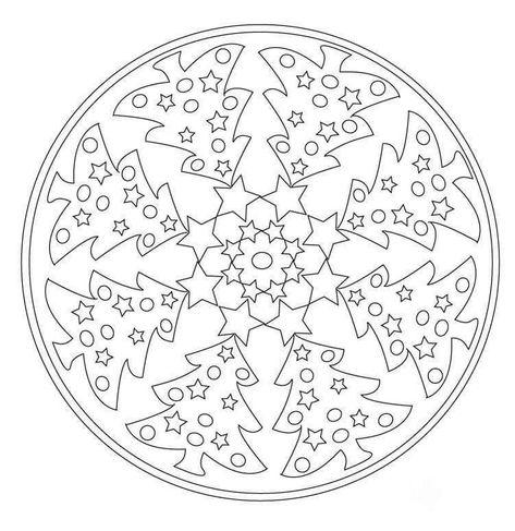 Mandala Zu Weihnachten Für Kinder Und Erwachsene Kostenlos