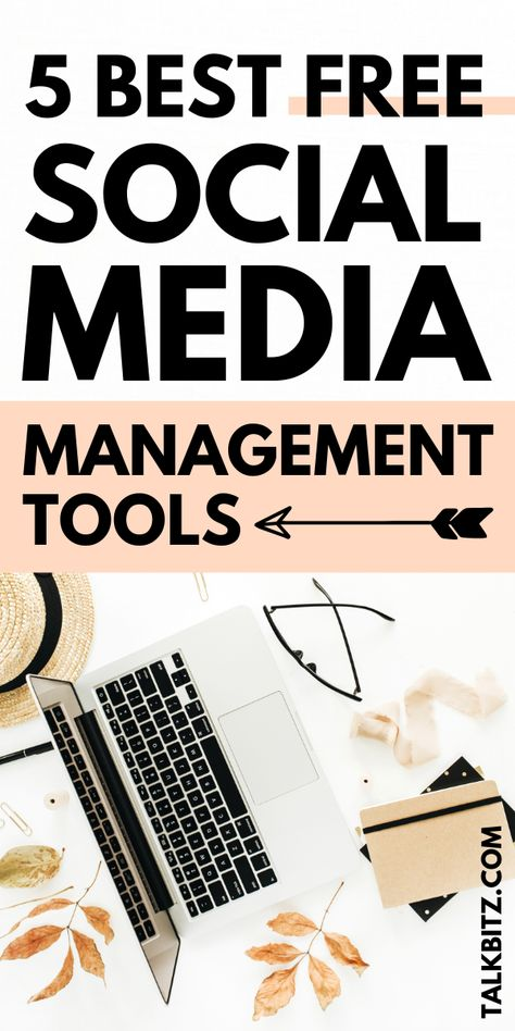 Trouble on updating social media? Learn how to easily save you time and grow your audience with these 5 best free social media management tools for Social Media Plattformen, Social Media Management Tools, Social Media Marketing Business, Social Media Calendar, Facebook Marketing, Marketing Tools, Digital Marketing Strategy, Internet Marketing, Content Marketing