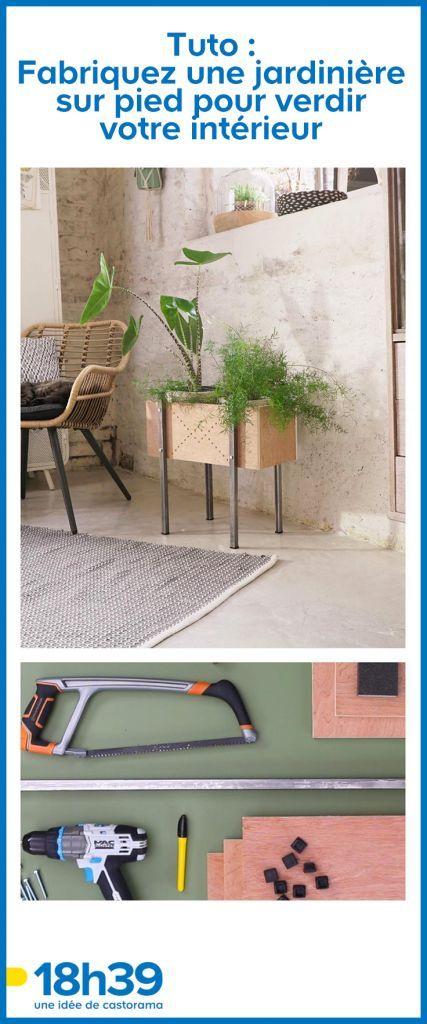 Tuto Fabriquez Une Jardiniere Sur Pied Pour Verdir Votre Interieur Jardiniere Sur Pied Boite A Coupe Et 18h39