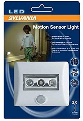 Sylvania Led Night Light With Motion Sensor And Auto On Off Motion Sensor Lights Sensor Night Lights Led Night Light