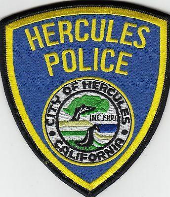 Us State Of California City Of Hercules Police Department Patch Police Patches Police California Ca