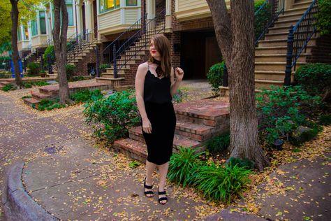 462b87f271 The Art of Versatility: Velvet Skirt 3 Ways, vince camuto velvet skirt, j.crew  factory scalloped cami, madewell leopard cotton scarf, myx lipstick, ...