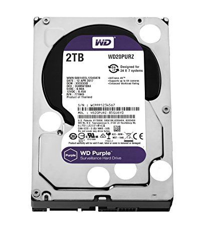 Wd Purple 2 Tb Festplatte Zur Videoberwachung Intellipower Sata 6 Gbs 64mb Cache 35 Zoll Wd20purz Festplatte Externe Festplatte Videouberwachung
