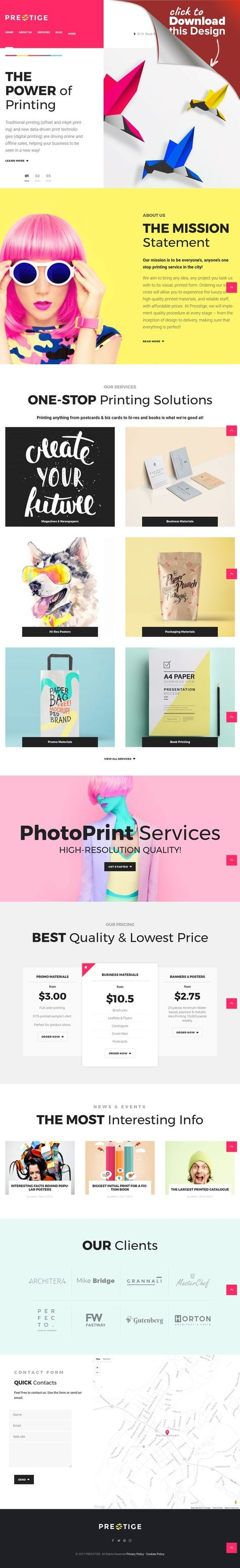 Tema de WordPress para Sitio de Tienda de Impresión
