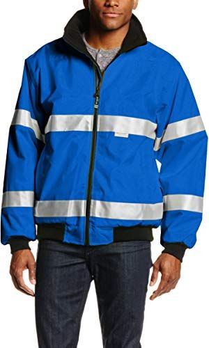Regular /& Big-Tall Sizes Charles River Apparel Mens Signal Hi-vis Waterproof Jacket
