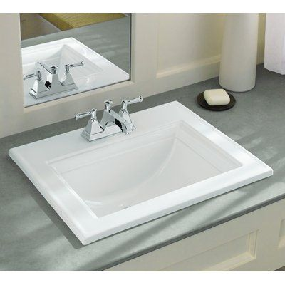 Kohler Memoirs Ceramic Rectangular Drop In Bathroom Sink With Overflow Wayfair Drop In Bathroom Sinks Traditional Bathroom Sink