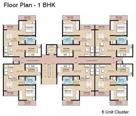 Low Cost Housing Plans - Plan For A 54 Square Meter Two Bedroom