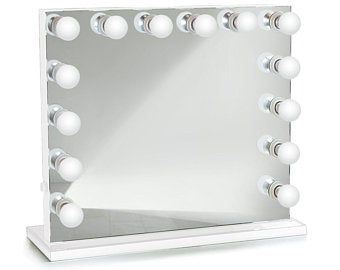 Curved Hollywood Vanity Mirror Led Makeup Mirror Table Top