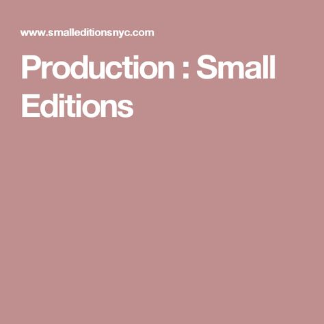 Production Small Editions Printing And Binding Limited Edition Book Portfolio Design