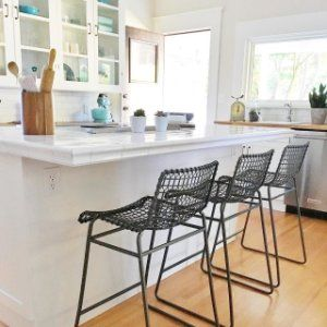 Tig Bar Stools With Cushion Crate And Barrel Metal Counter