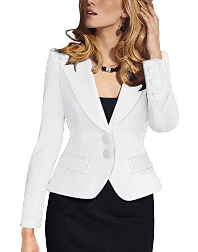 Veste tailleur longue blanc